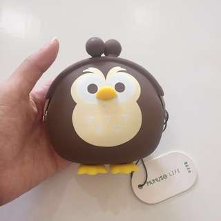 Brown Owl Jelly Silicone Wallet
