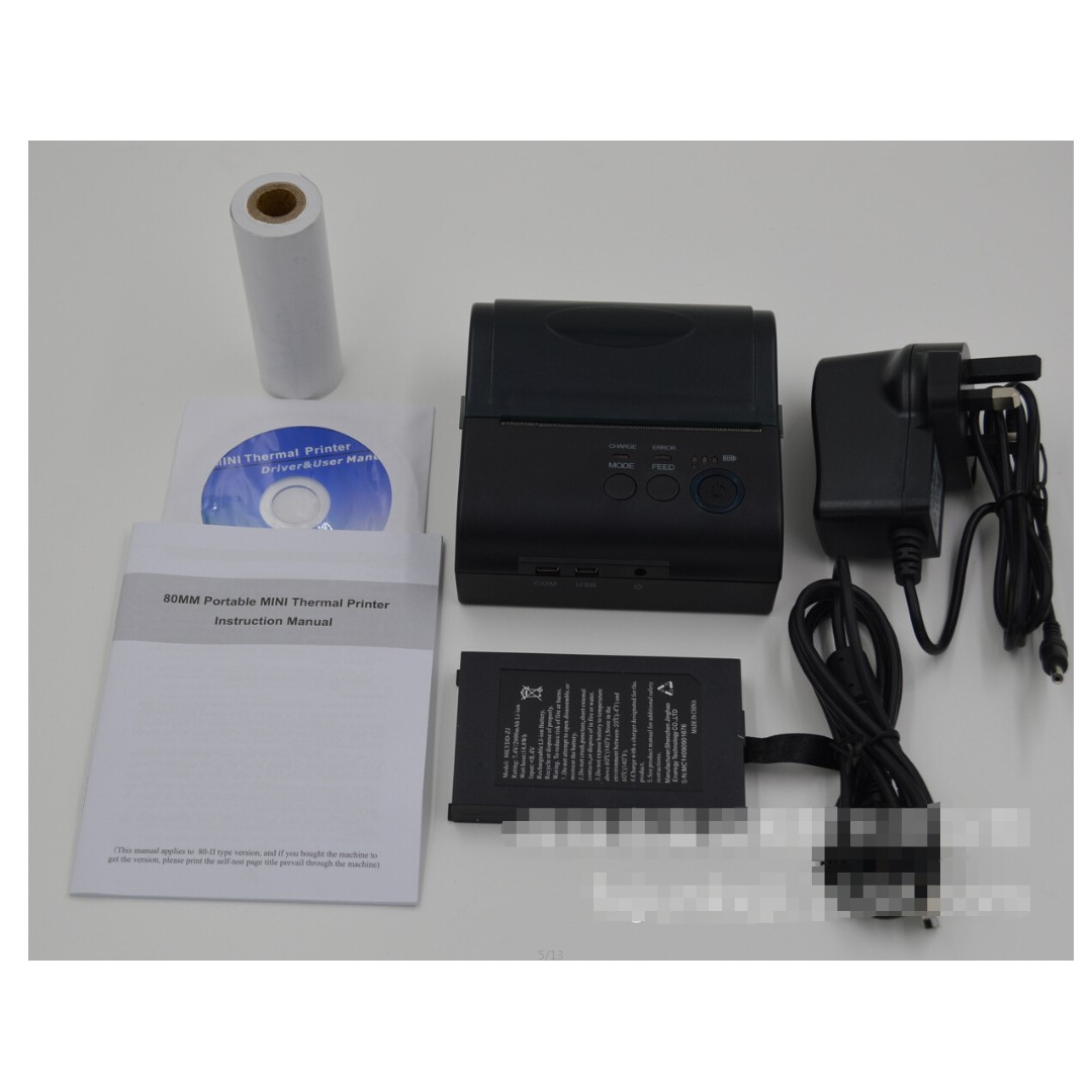 80mm Bluetooth Thermal POS Receipt Printer Android iOS
