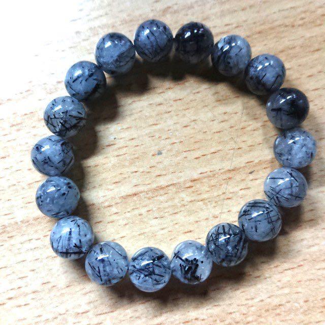 黑髮晶手鍊(全新可議價)