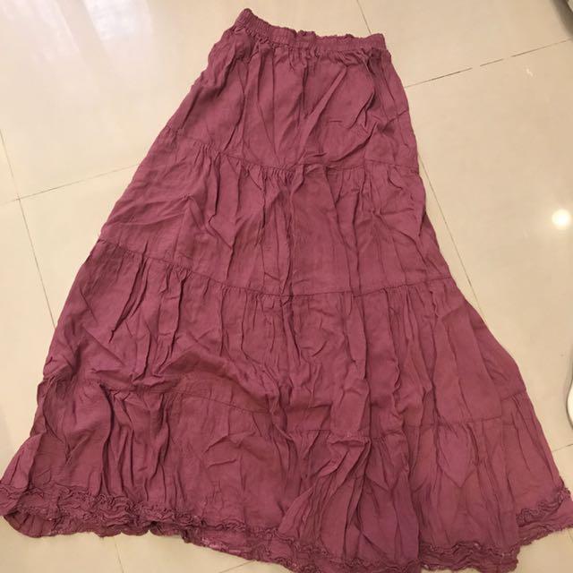 峇里島風紫紫長裙
