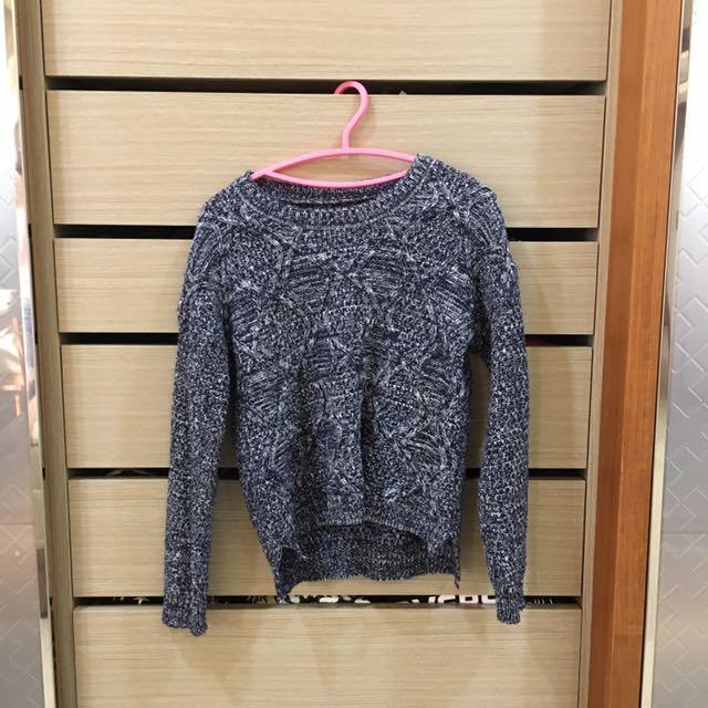 藍灰色毛衣