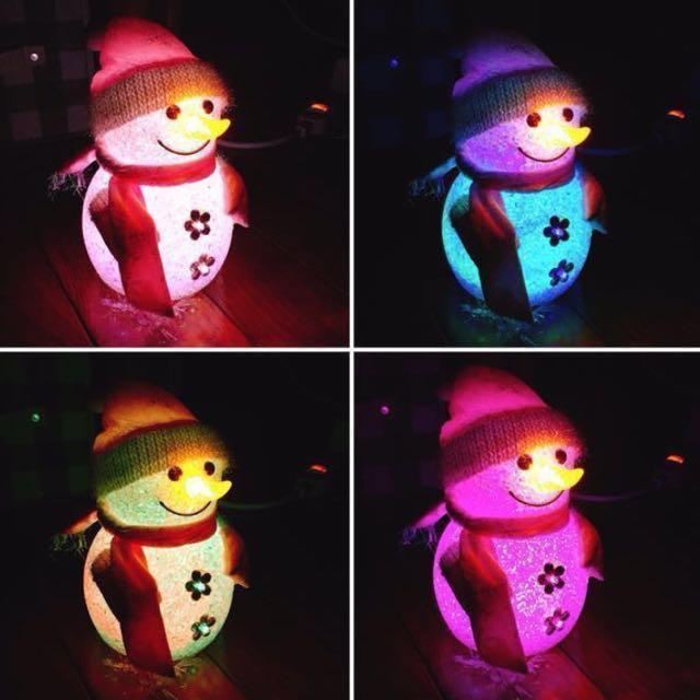 聖誕節雪人燈飾⛄️ #好想找到對的人