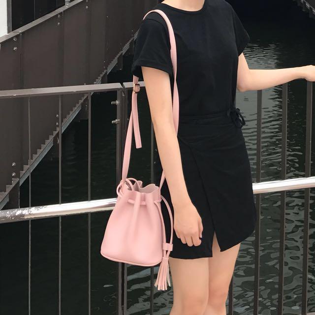 粉紅色水桶包 #有超取最好買