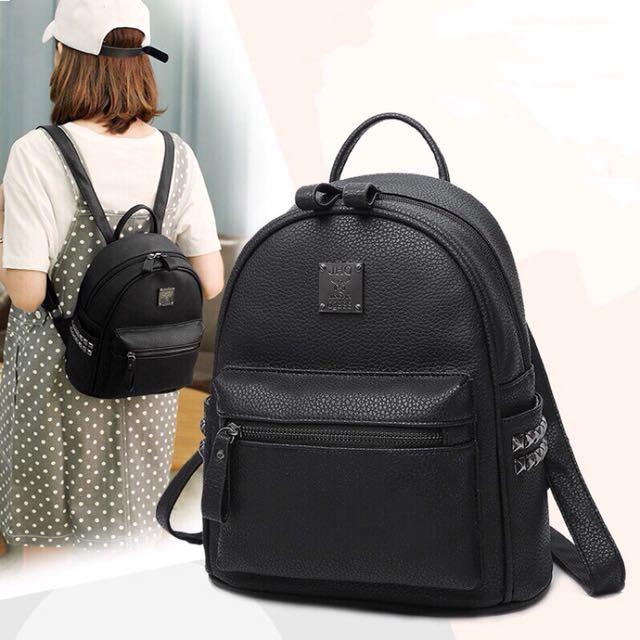 現貨 全新黑色後背包小包包