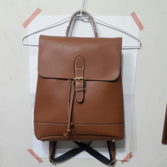 #新春八折 棕色後背包