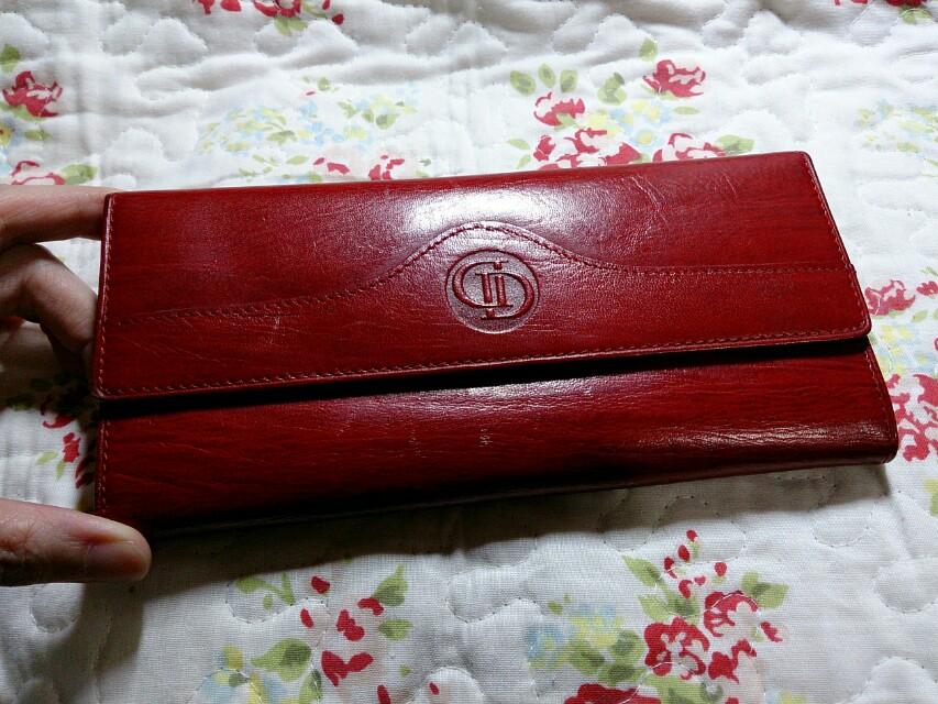 義大利品牌 正皮革 紅色長夾(誠可議)