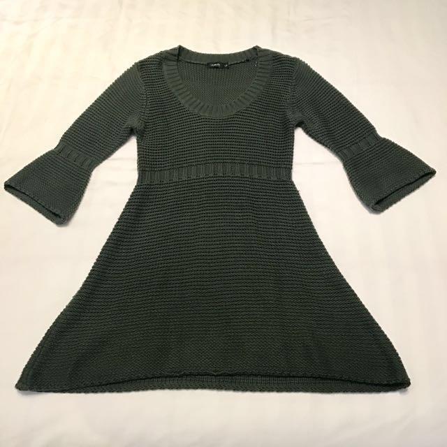 墨綠色毛衣洋裝 #冬季衣櫃出清 #有超取最好買