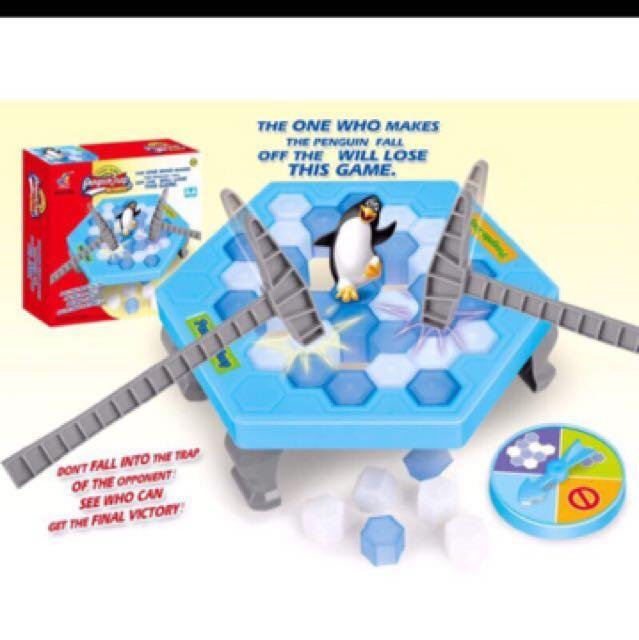 打企鵝 積木 敲冰塊 遊戲 親子益智 超好玩