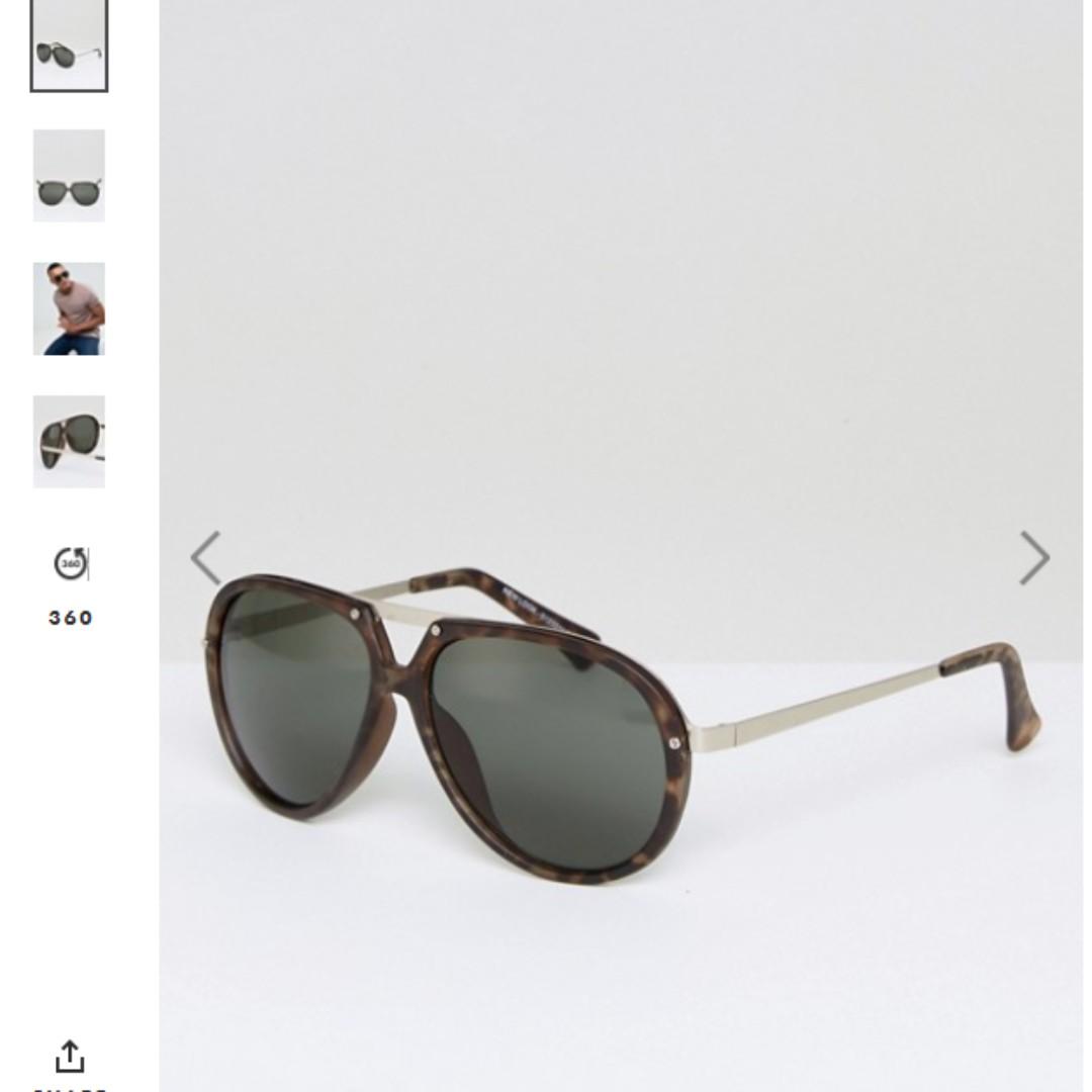 全新 現貨 ASOS英國 new look經典 玳瑁 太陽眼鏡 中性可 雷朋款式 飛行眼鏡 高質感 抗UV