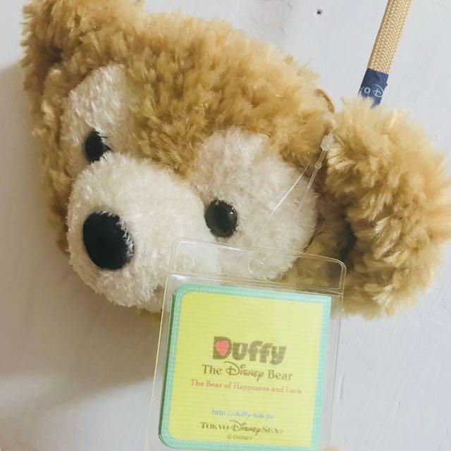 [免運]全新 日本東京海洋迪士尼 達菲Duffy毛絨絨大頭票卡夾/零錢包 #有超取最好買 #免運最划算
