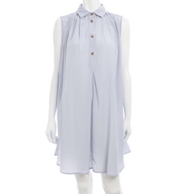 日本品牌 cocodeal 襯衫洋裝op 冰藍色2號 #好想找到對的人