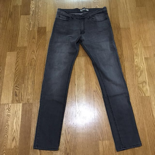 英國 New Look 黑色skinny彈性材質牛仔褲