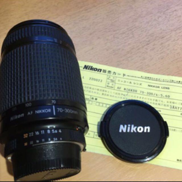 本日特賣 Nikon Nikkor AF 70-300mm f4-5.6 D鏡 全幅打鳥鏡 有光圈環FM2可直上(sold out!)