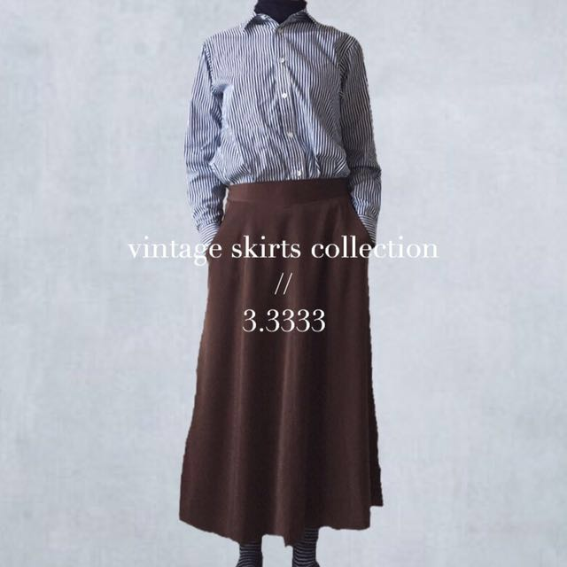 - vintage - 日本製🇯🇵古著/優雅的深咖啡色長裙