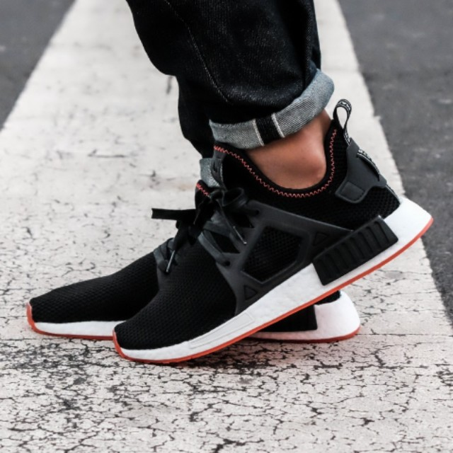 14f4f0bf210c Adidas NMD XR1 Black and Solar Red