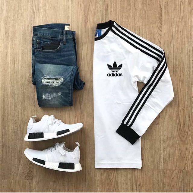 Adidas OG 白底黑線條 英國專櫃購入s號