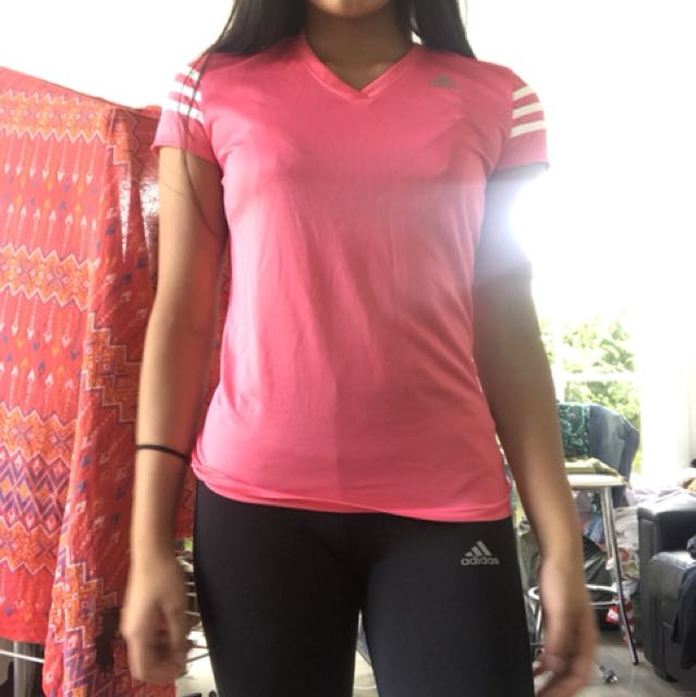 Adidas pink t shirt