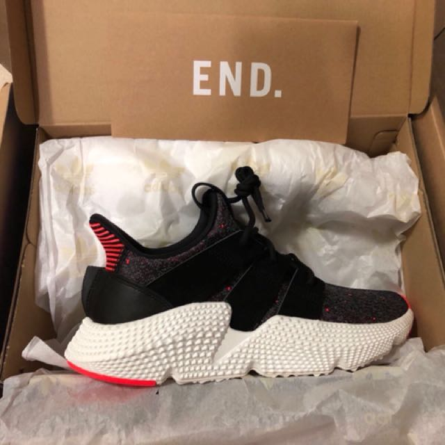 buy popular 30856 ed17c Adidas Prophere Core Black  Solar Red US8, Mens Fashion, Footwear on  Carousell