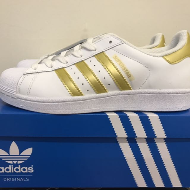 Adidas superstar J 金色