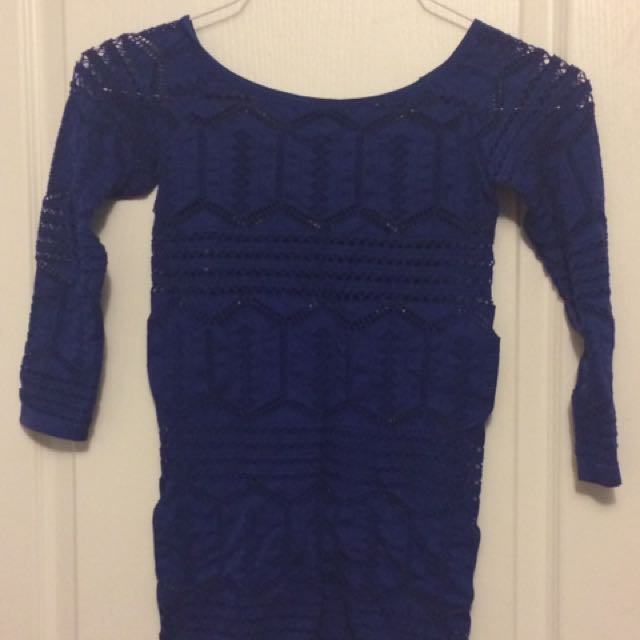 adL Royal Blue Blouse - Small