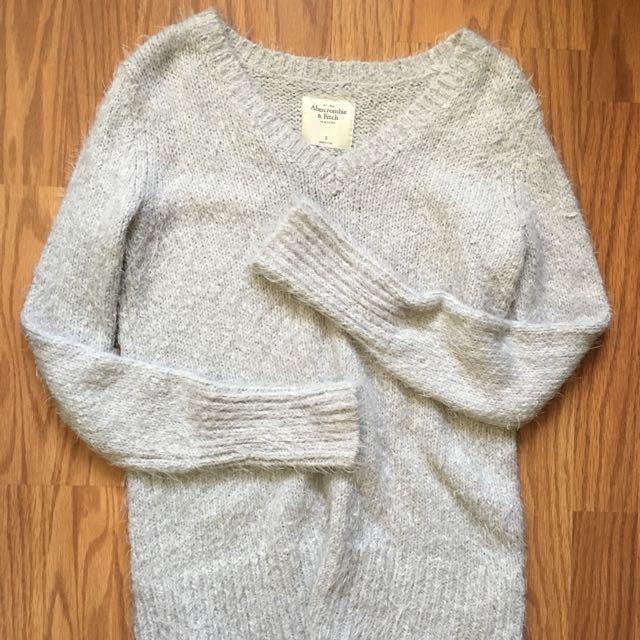 A&F fuzzy sparkly sweater