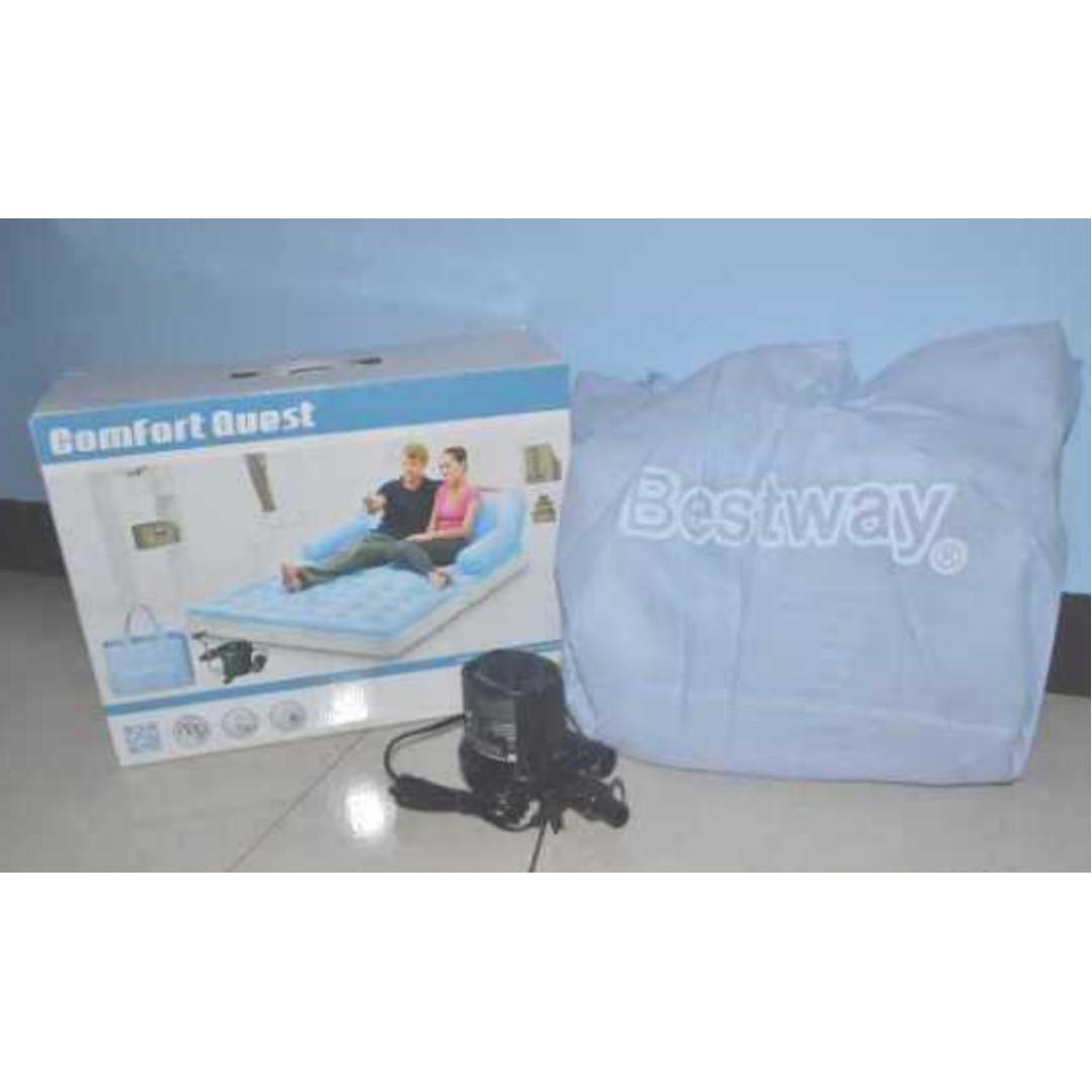 Air Sofa Bed Bestway 5in1 Bangku Kasur Angin Portable Murah Home Single Furniture On Carousell