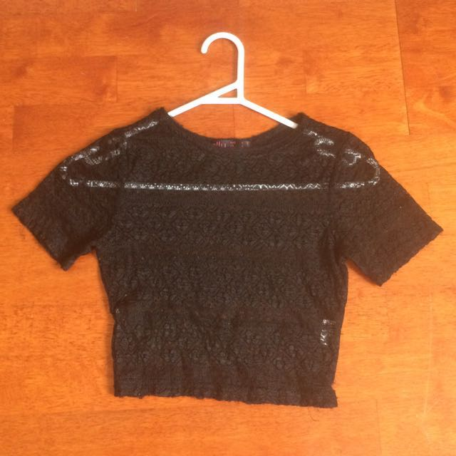 ALLY Sheer Lace crop top