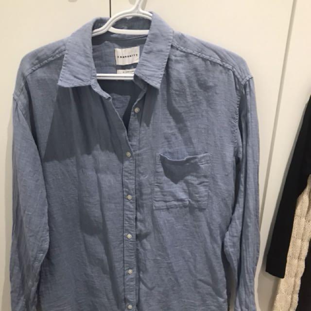Aritzia - Community button up shirt