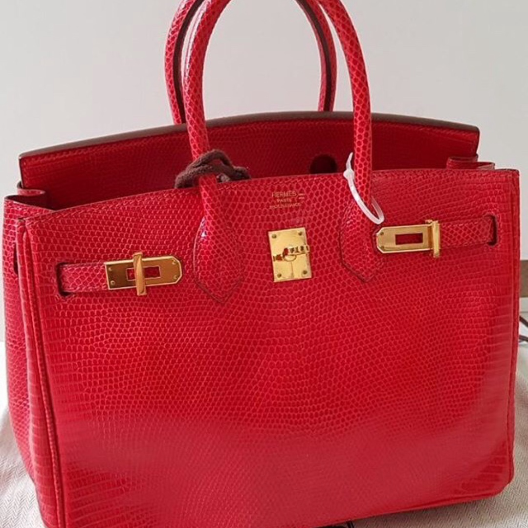 c6e2bc76868 Authentic Hermes birkin 25 lizzy rouge vif ghw stamp L
