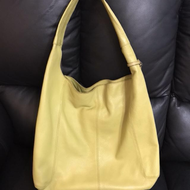 Authentic Leather Yucca Bag Yellow