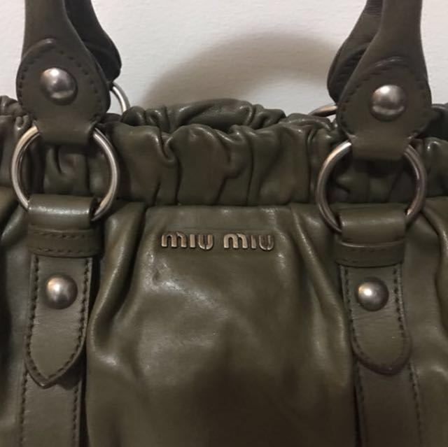 1475c3bfa488 Authentic Miu Miu miumiu by Prada Vitello