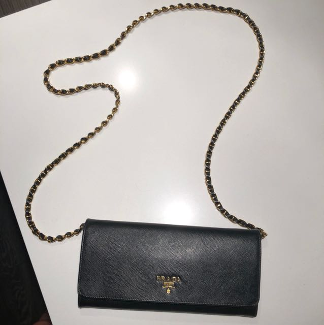 AUTHENTIC PRADA WALLET WITH CHAIN