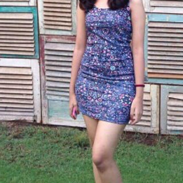 Bershka Pattern Dress