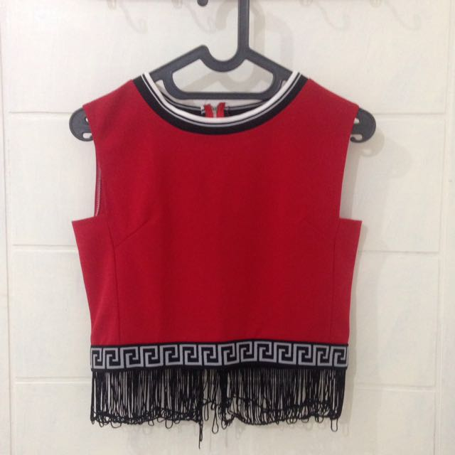 BKK RED CROP TOP