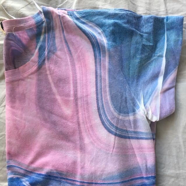 Blue and Pink Marble T-shirt