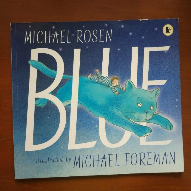 Blue storybooks ( import)