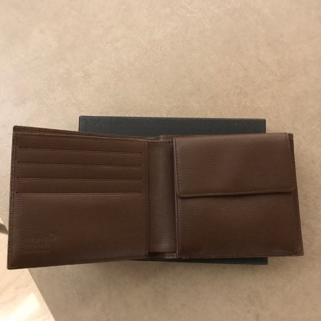 3e8676d320c44 BN MONTBLANC LEATHER MEN S WALLET WITH COIN CASE