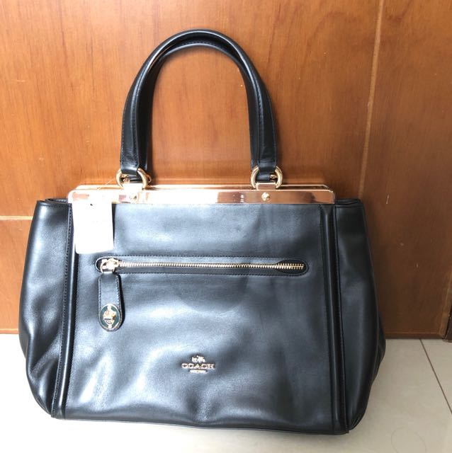 BNWT Coach Small Leather Lex Satchel Colour Black