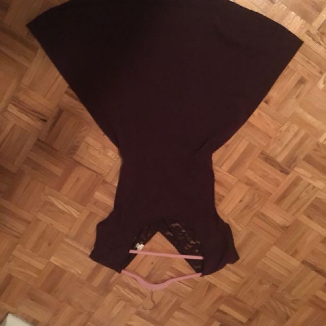 Burgundy skater style dress