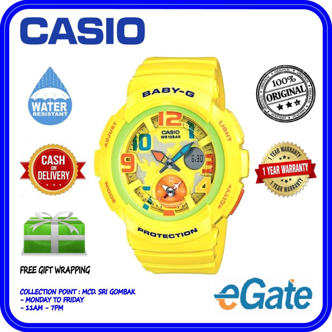 Casio Baby G Bga 190 9b Ladies Analog Digital Sporty Yellow Strap Jam Tangan Cewek 180 3b Original Watch Fesyen Wanita Di Carousell