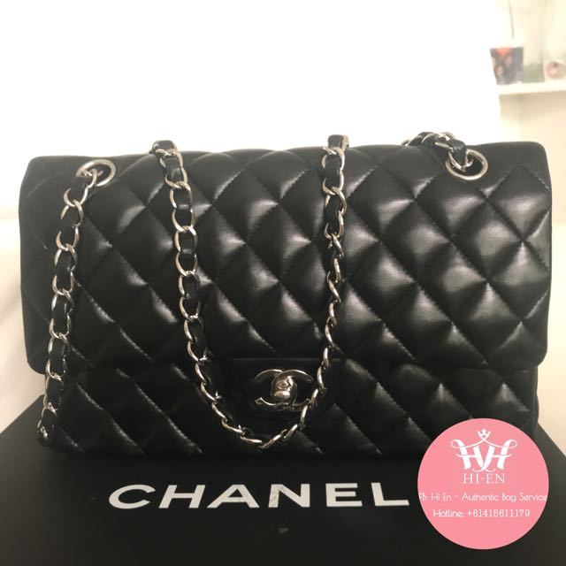 CHANEL CLASSIC DOUBLE FLAP MEDIUM LAMBSKIN SHW
