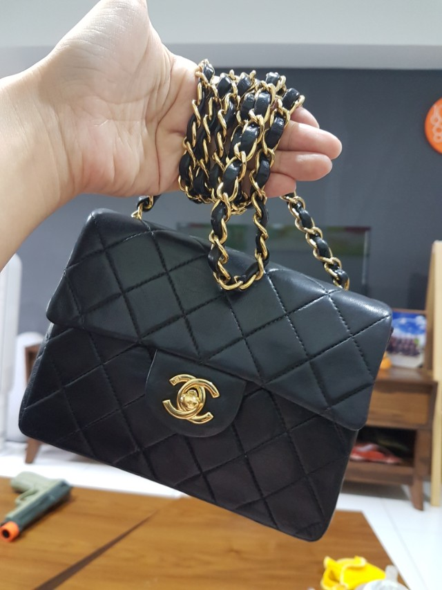 e79255af6a04 Nego Chanel vintage mini square, Luxury, Bags & Wallets on Carousell