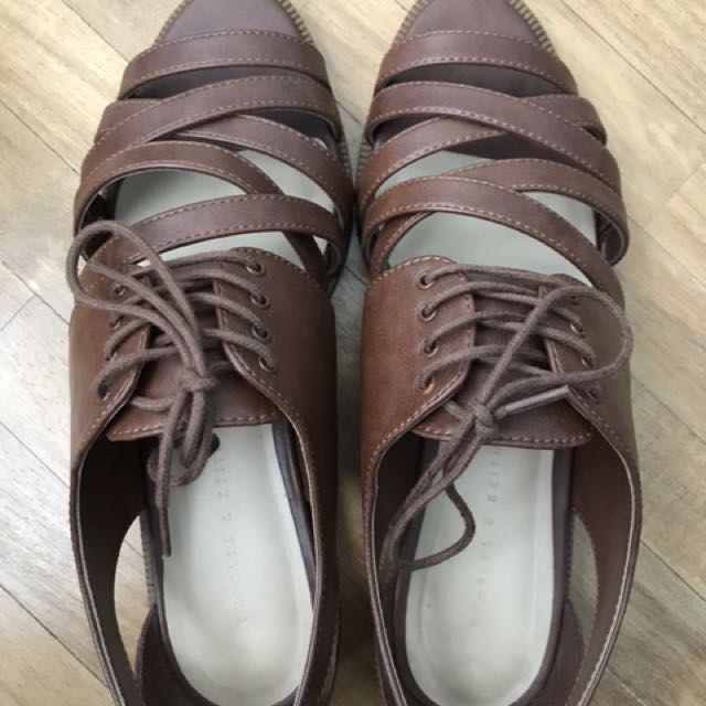 Charles & Keith strappy brogues