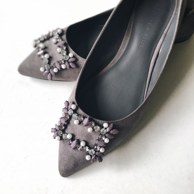 Charles & Keith Suede Flats