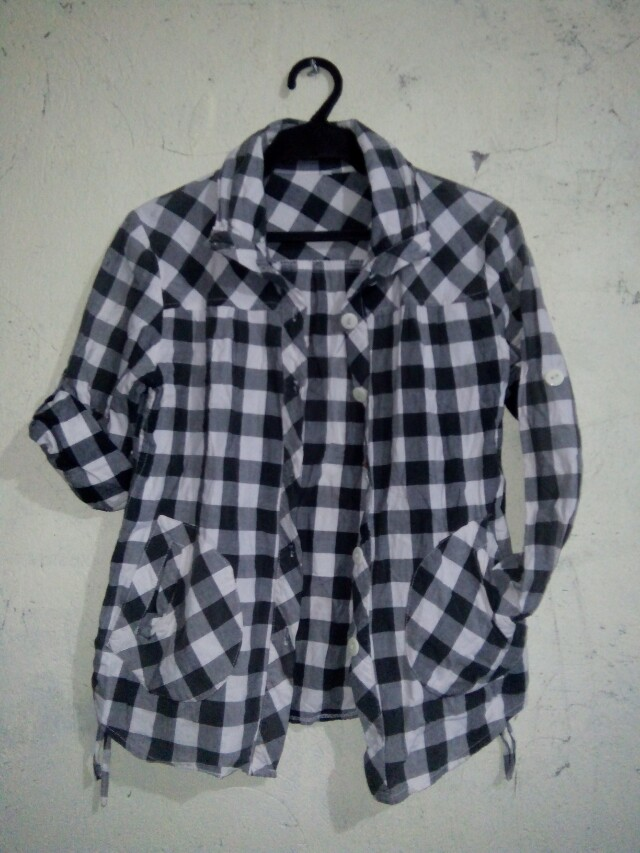 Checkered Jacket/ Polo