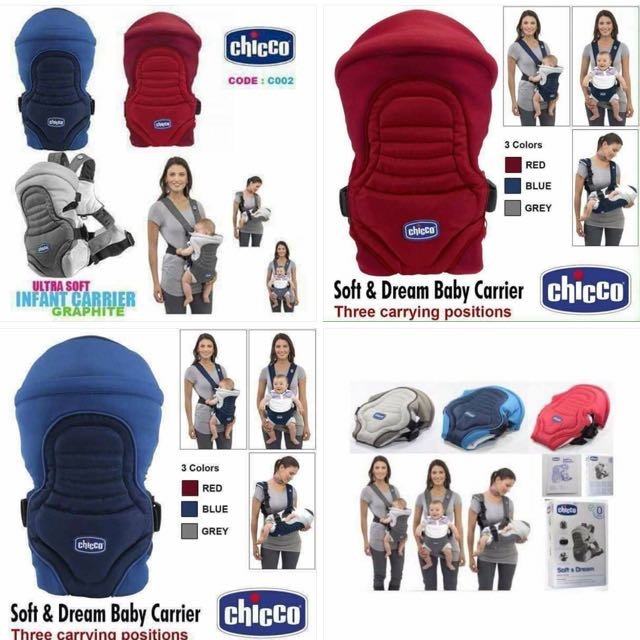Chicco Soft And Dream 3way Baby Position Carrier On Carousell