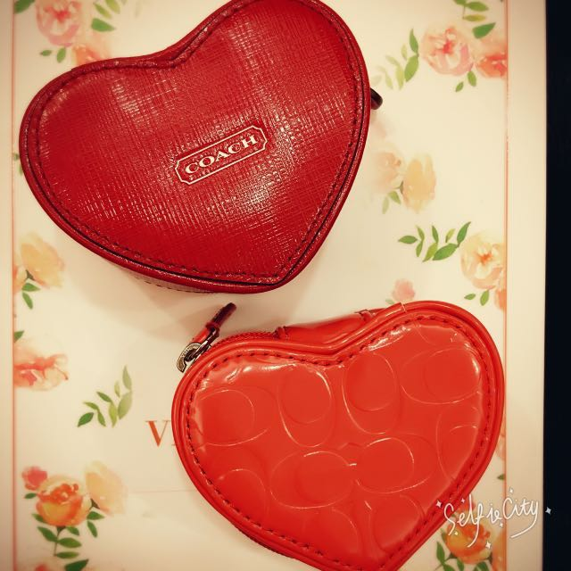 COACH愛心型珠寶首飾盒