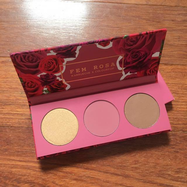 Colourpop x Karryeche Fem Rosa Face Palette