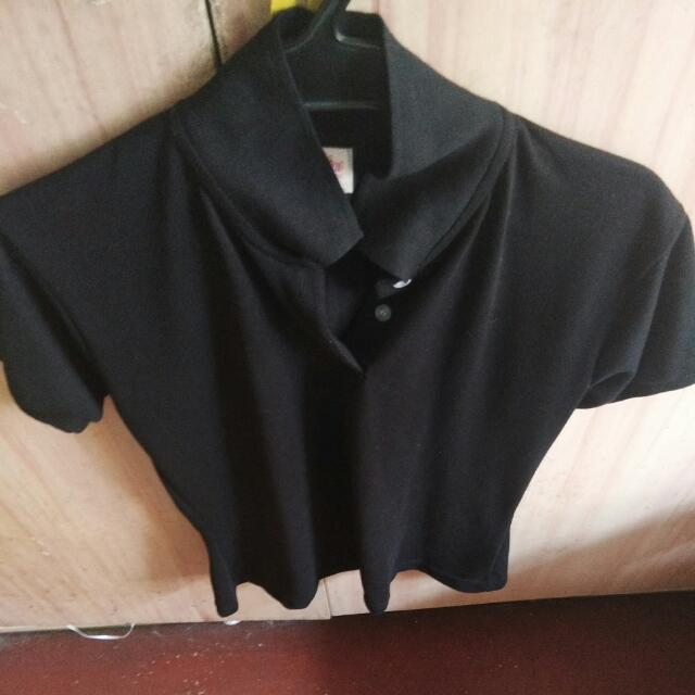 Coraline Black Polo Shirt large