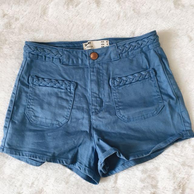 Cotton on blue shorts